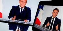 Emmanuel Macron s'adresse à la nation lors d'un point sur la situation sanitaire, le 28 octobre 2020