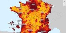 Immobilier : capture d'écran de la carte des loyers éditée par le ministère de la transition écologique
