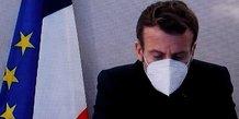 Macron exprime la solidarite de la france avec les gendarmes tues