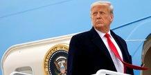 Trump lance un appel a l'arret des manifestations