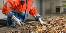 Recyclable recycle des câbles sur le site Sita Agora à Noyelles-Godault