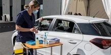 Le vaccidrive créé à la Clinique Saint-Jean de Montpellier, le 13 avril 2021