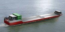 Barge Hydrogène Sogestran Le Havre