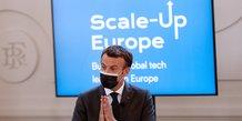 Macron souhaite la creation de 10 geants europeens de la tech d'ici 2030