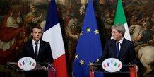 Paolo Gentiloni et Emmanuel Macron