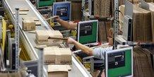 Un centre logistique d'Amazon en Allemagne
