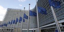 Europe, drapeaux en berne, Commission européenne, attentats de Bruxelles du mardi 22 mars 2016,