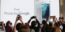 Rick osterloh, svp hardware at google, introduces the pixel phone by google during the presentation of new google hardware in san francisco