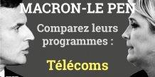 Numérique, Macron, Le Pen, programmes comparaison, présidentielle 2017, 2e tour, France,