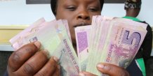 Zimbabwe Argent billets mugabe banque