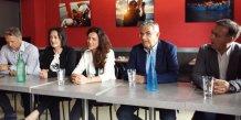 Cinq des sept candidats LRM investis dans l'Hérault : P. Vignal, I. Voyer, C. Dubost, JF. Eliaoui, et P. Huppé