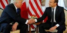 Trump et macron se sont rencontres a bruxelles