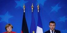 Macron et merkel scellent un pacte d'alliance a bruxelles