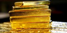 Or, lingot, barre, métal précieux, jaune, trésor,