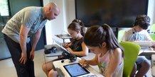 EdTech enfants tablettes pédagogique numérique enseignement