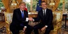 A paris, trump et macron rivalisent d'amabilites