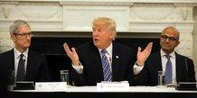 Donald Trump rencontre régulièrement des P-DG depuis son arrivée à la Maison-Blanche
