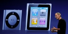 Steve Jobs présente des nouvelles versions des iPod nanao et Shuffle en septembre 2010