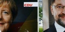 Merkel et schulz redoutent une percee de l'extreme droite