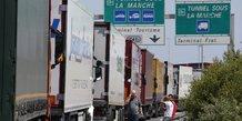 Brexit Calais camions