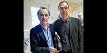 Eric Fargeas, directeur d'Agropolis International (à droite) et Jean-Philippe Granier, directeur AOC Languedoc (à gauche)