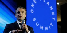 Macron accueille les laureats de son appel aux chercheurs sur le climat