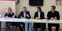E.Gagnepain (Care Labs), S. Hervé (Medef), V. Daffourd (Care Labs), T. Tsagalos (Care Labs)
