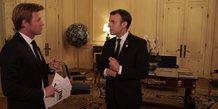 Macron et Delahousse le 17 décembre 2017