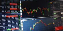 marché financier bourse graphique