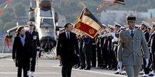 Macron, Parly, Loi de programmation militaire, Défense, armées, vaisseau Dixmude, base navale de Toulon,
