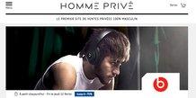 Le site de ventes privées www.hommeprive.com est lancé le 15 février 2018 par l'Héraultais Private Sport Shop