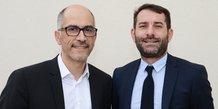 Jean-Claude Gallo, DG délégué de La Tribune, et Jean-Christophe Tortora, président de La Tribune