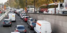 Voies sur berges fermées, Paris, Seine, embouteillage, pollution automobile,