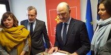 Pierre Moscovici, commissaire européen, en visite à Montpellier le 27 février 2018
