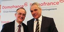 Francis Stéphan et Philippe Rondot, respectivement directeur général et président de Domofrance