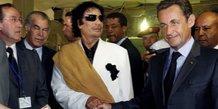 Sarkozy Kadhafi Libye