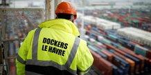 Containers, conteneurs, Le Havre, commerce extérieur, déficit, France, fret maritime, transport de marchandises, docker