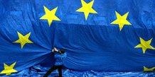 Europe, zone euro, Commission européenne, Bruxelles, drapeau, étoiles, flag,